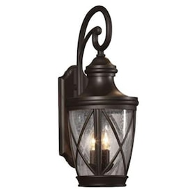 allen + roth Castine 23.75-in H Bronze Candelabra Base (E-12) Outdoor Wall Light - Hardwarestore Delivery