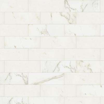 Marazzi      Developed by Nature Calacatta 4 in. x 12 in. Glazed Ceramic Wall Tile (10.64 sq. ft. / case)