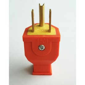 Project Source 15-Amp-Volt Orange 3-Wire Grounding Plug - Hardwarestore Delivery