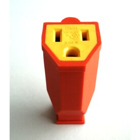 Project Source 15-Amp-Volt Orange 3-Wire Grounding Connector - Hardwarestore Delivery