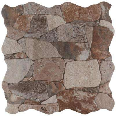 Merola Tile      Attica Gris 16-7/8 in. x 16-7/8 in. Ceramic Floor and Wall Tile (14.15 sq. ft. / case)