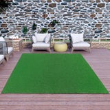 Ottomanson Evergreen Collection 6 ft. 7 in. x 9 ft. 3 in. Artificial Grass Carpet