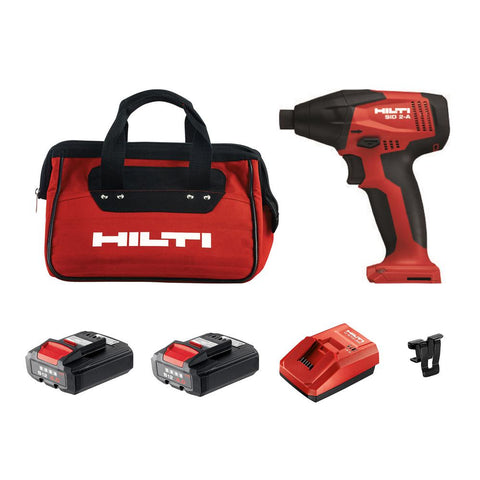 12-Volt Lithium-Ion 1/4 in. Cordless Impact Driver SID 2-A Kit with Battery, Charger and Bag