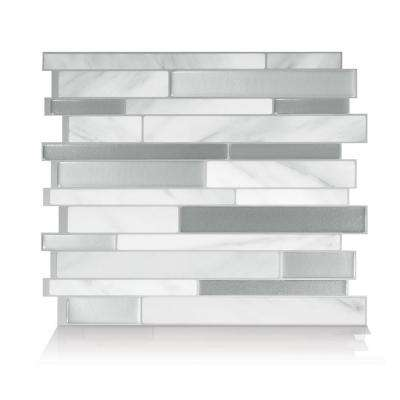smart tiles      Milano Carrera Multi 11.55 in. W x 9.64 in. H Peel and Stick Decorative Mosaic Wall Tile Backsplash (4-Pack)