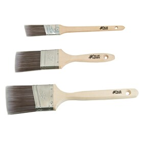Blue Hawk 3-Pack Polyester Flat and Angle 2.5-in Paint Brush Set