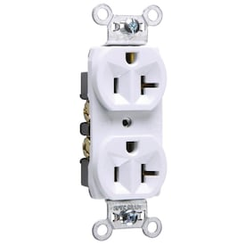 Legrand White 20-Amp Duplex Commercial Outlet - Hardwarestore Delivery