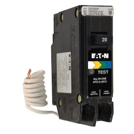 Eaton Type BR 20-Amp 1-Pole Dual Function AFCI/GFCI Circuit Breaker - Hardwarestore Delivery