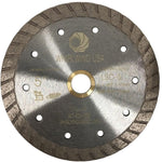 Whirlwind USA 5 in. Turbo Rim Diamond Blade for Dry or Wet Cutting Concrete, Stone, Brick and Masonry