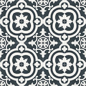 DELLA TORRE Cementina Black and White 8-in x 8-in Ceramic Tile (Common: 8-in x 8-in; Actual: 7.87-in x 7.87-in)