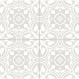 DELLA TORRE Annabelle Gray 8-in x 8-in Porcelain Floor Tile (Common: 8-in x 8-in; Actual: 7.78-in x 7.78-in)