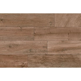 Style Selections Woods Natural 6-in x 24-in Porcelain Wood Look Floor Tile (Common: 6-in x 24-in; Actual: 5.84-in x 23.5-in)