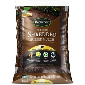 Rubberific 0.8-cu ft Dark Brown Rubber Mulch