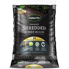 Rubberific 0.8-cu ft Black Rubber Mulch