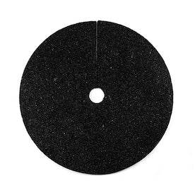 Rubberific Black Recycled Rubber 24-in Tree Ring