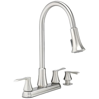 Project Source Stainless Steel 2 Handle Deck Mount Pull Down Handle Le In Stock Hardwarestore Delivery