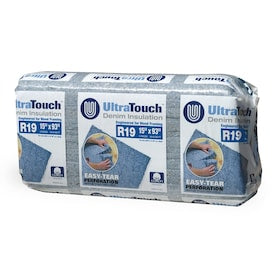 Energy Star Qualified; UltraTouch R-19 Recycled Denim Batt Insulation with Sound Barrier (15-in W x 93-in L)