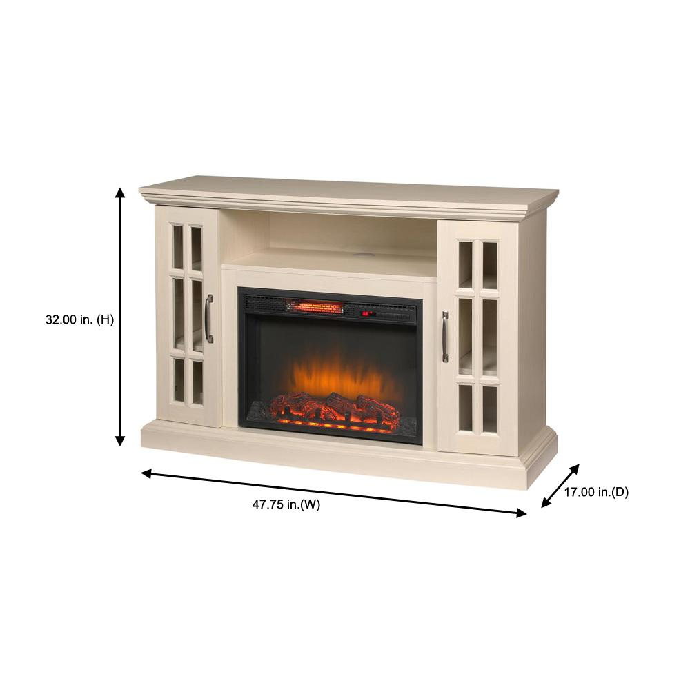 Edenfield 48 In Freestanding Infrared Electric Fireplace Tv Stand In In Stock Hardwarestore Delivery