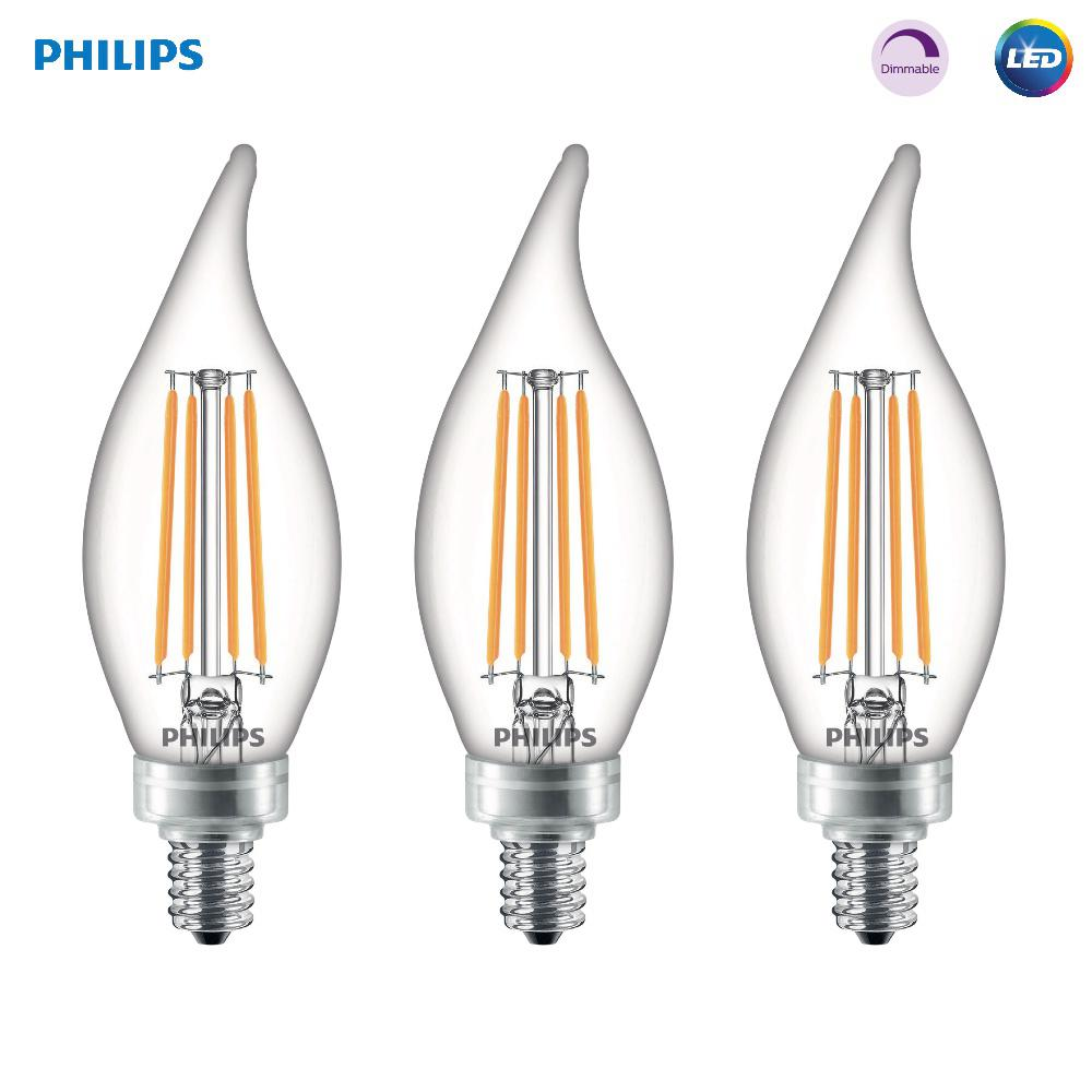 Philips 60 Watt Equivalent B11 Dimmable Edison Led Candle Light Bulb G In Stock Hardwarestore Delivery