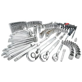 CRAFTSMAN 224-Piece Standard (SAE) and Metric Polished Chrome Mechanics Tool Set