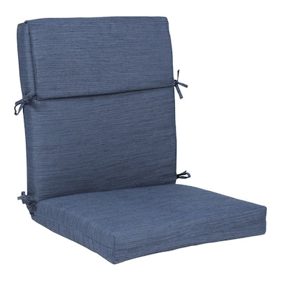 Plantation Patterns Allen + Roth Navy Patio Chair Cushion