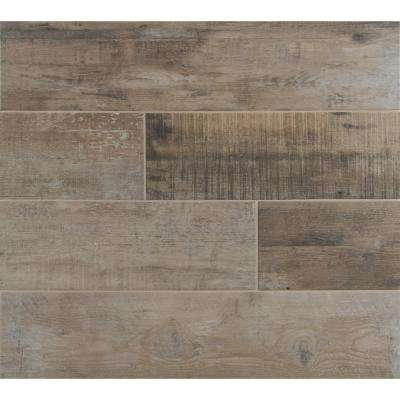 Exclusive         MSI      Barnwood Cognac 8 in. x 36 in. Matte Porcelain Floor and Wall Tile (20 cases / 280 sq. ft. / pallet)