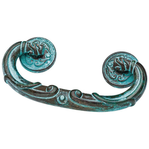 French Lace 2-1/2 in. (64mm) Center-to-Center Teal Patina Bail Drawer Pull