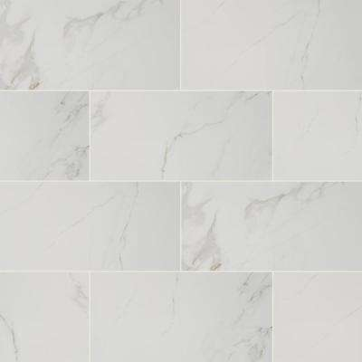 Best Seller         Home Decorators Collection      12 in. x 24 in. Carrara Polished Porcelain Floor and Wall Tile (16 sq. ft./case)