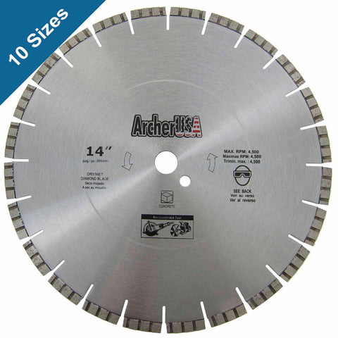 Archer USA 16 in. Diamond Blade for Concrete Cutting