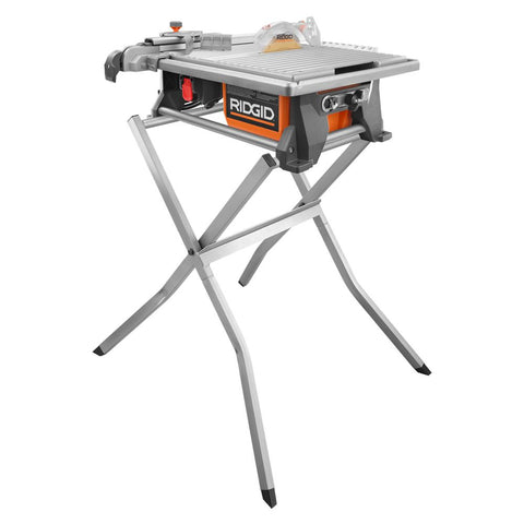 RIDGID 6.5 Amp Corded 7 in. Table Top Wet Tile Saw with Stand