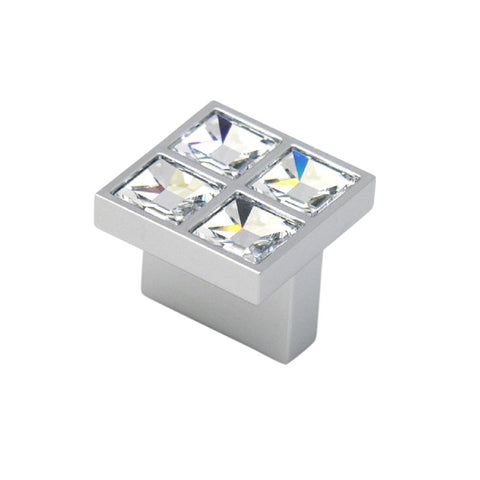Swarovski Crystal Collection 0.62 in. Center-to-Center Square Chrome Cabinet Pull