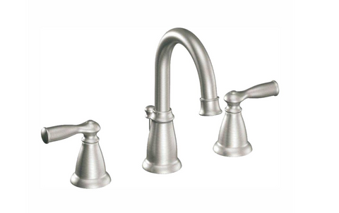 MOEN Banbury 8 in. Widespread 2-Handle High-Arc Bathroom Faucet in Spot Resist Brushed Nickel - Hardwarestore Delivery