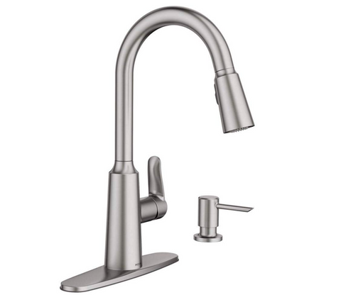 Moen Edwyn Spot Resist Stainless 1-Handle Deck Mount Pull-down Commercial/Residential Kitchen Faucet - Hardwarestore Delivery