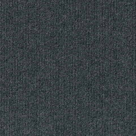 Foss Peel and Stick Ribbed Gunmetal 18 in. x 18 in. Residential Carpet Tile (16 Tiles/Case)