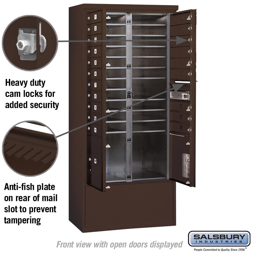 3900 Horizontal Series 20 Compartment 2 Parcel Locker Free Standing Ma In Stock Hardwarestore Delivery