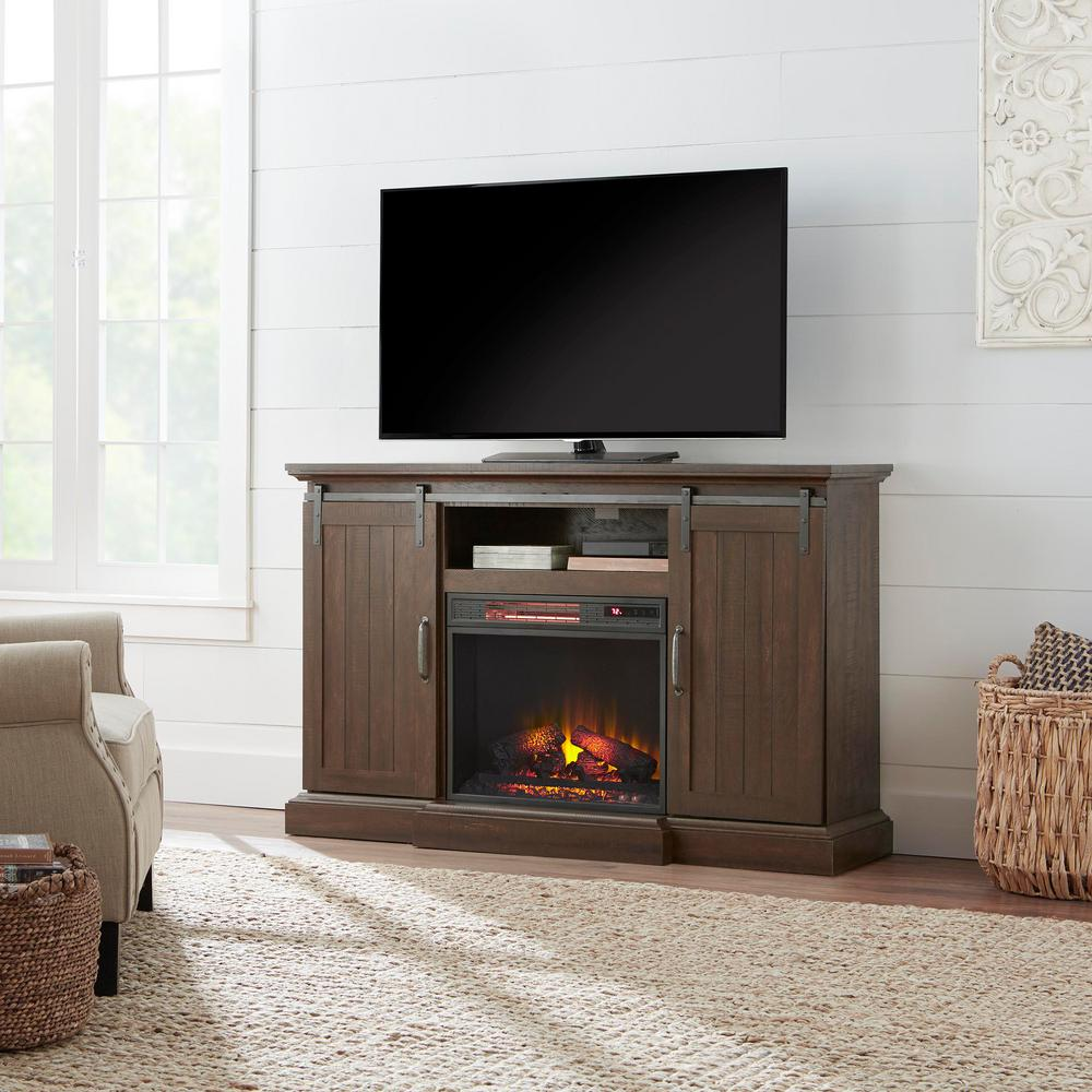 Chastain 56 In Freestanding Media Console Electric Fireplace Tv Stand Super Arbor