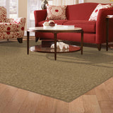 PetProof Pattern Perry Canoe Texture 6 ft. x 9 ft. Bound Carpet Rug