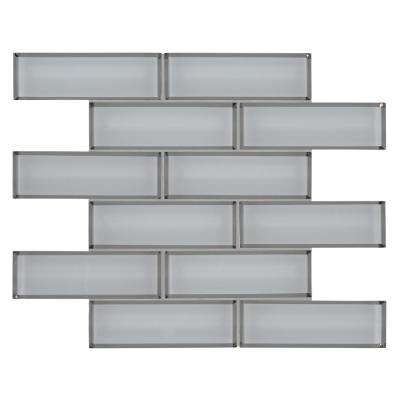 MSI      Ice Bevel Subway 11.73 in. x 11.73 in. x 8 mm Textured Glass Mesh-Mounted Mosaic Tile (9.6 sq. ft. /case)