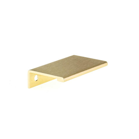 1-31/32 in. (50 mm) Satin Gold Aluminum Contemporary Edge Drawer Pull