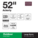 Ackerly 52 in. Integrated LED Indoor/Outdoor Bronze Ceiling Fan with Light Kit