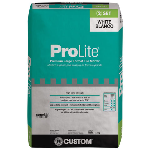 Custom Building Products ProLite 30 lbs. White Tile and Stone Mortar