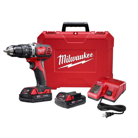 M18 Lithium-Ion Cordless 1/2 in. Hammer Drill Driver Kit with(2) 1.5Ah Batteries, Charger and Hard Case