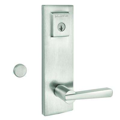 Kwikset      Vancouver Matte Black Single Cylinder Low Profile Handleset with Halifax Lever Featuring SmartKey Security