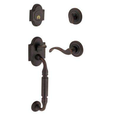 Grandeur      Fifth Avenue Timeless Bronze 1-Piece Handleset with F Grip and Bellagio Lever