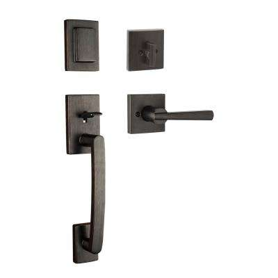 Kwikset      Tavaris Satin Nickel Single Cylinder Door Handleset with Vedani Door Lever Featuring SmartKey Security