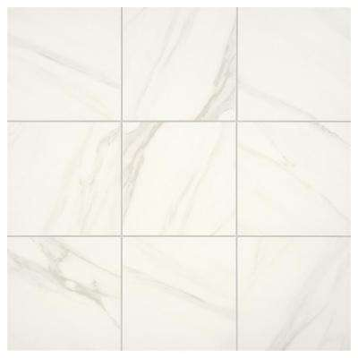Selwyn Bianco Calacatta 12 in. x 12 in. Glazed Porcelain Floor and Wall Tile (14.55 sq. ft. / Case)