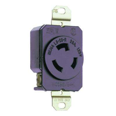Legrand      Turnlok 20 Amp Single Locking Outlet - Black