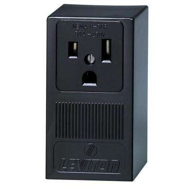 Leviton      50 Amp Double Pole Single Outlet, Black
