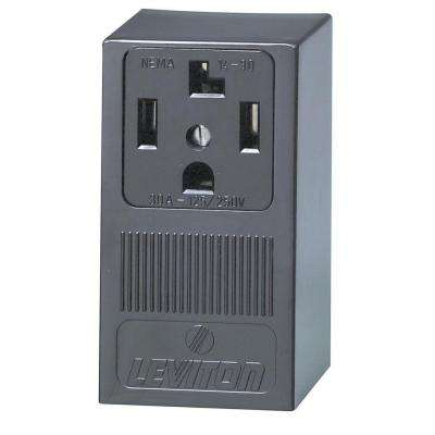 Leviton      30 Amp Single Surface Mounted Single Outlet, Black