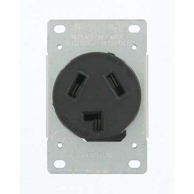 Leviton      30 Amp 125-Volt/250-Volt Shallow Single Flush Mounted Outlet, Black