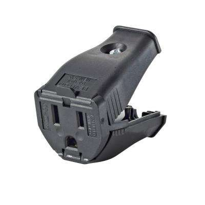 Leviton      15 Amp 125-Volt 2-Pole 3-Wire Grounding Cord Outlet, Black